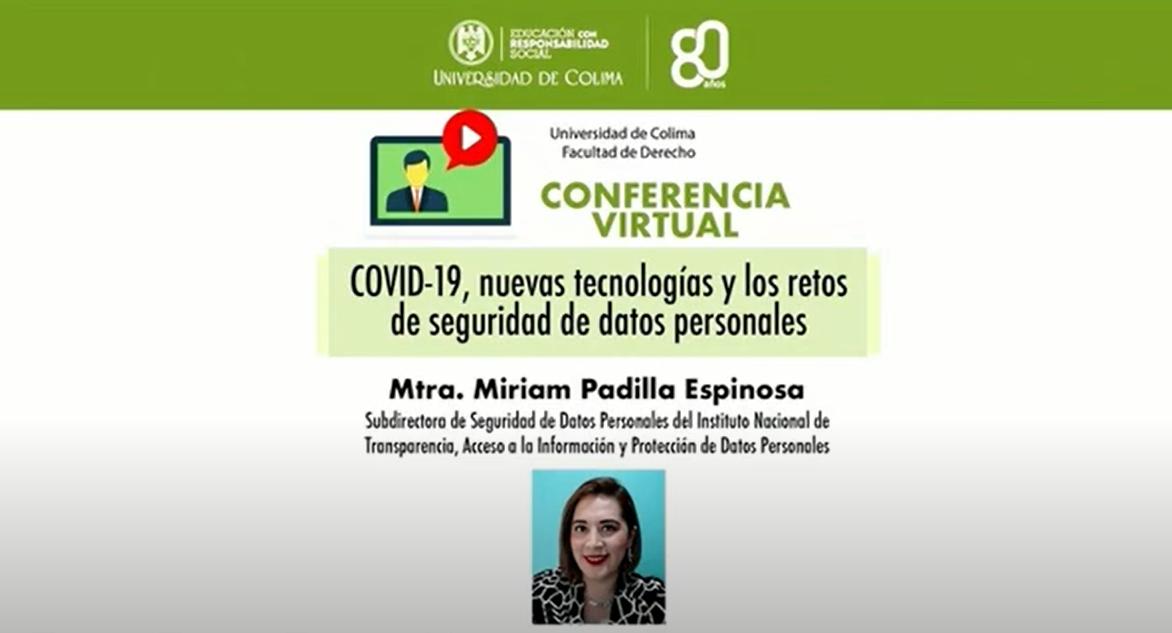 COVID-19: Nuevas tecnologías y datos personales