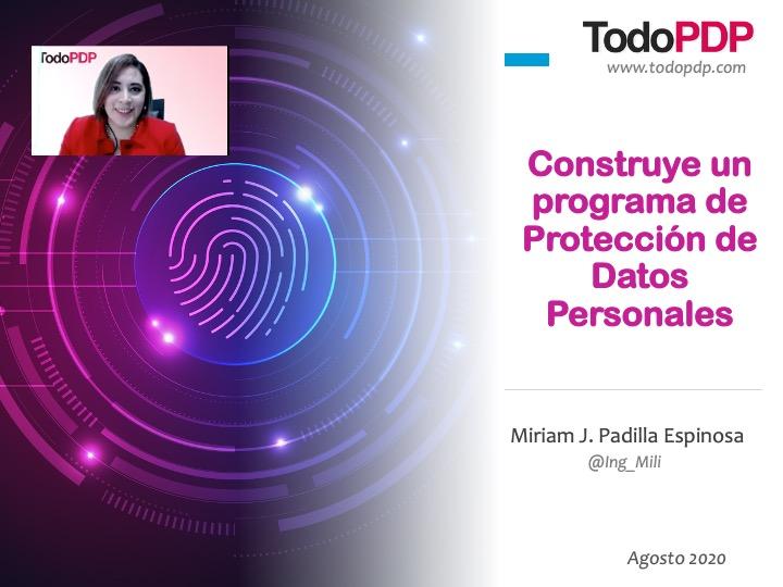 Curso Programa de Protección de Datos Personales