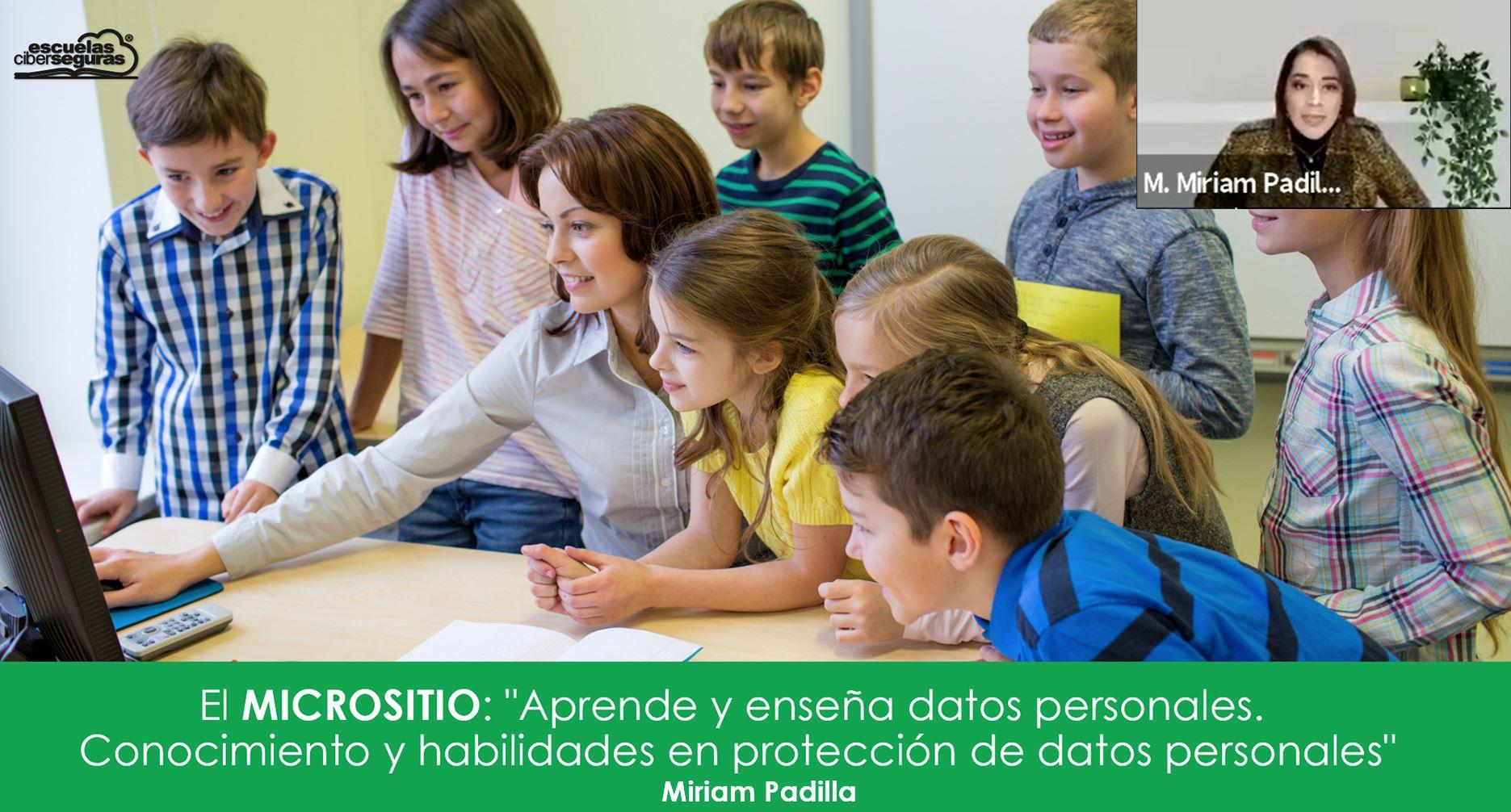 Micrositio Aprende y Enseña datos personales.